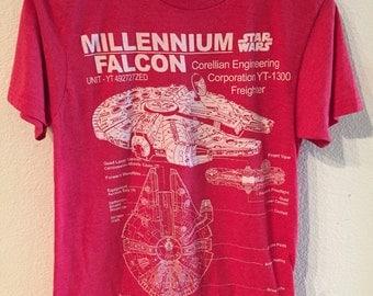 Star Wars Millennium Falcon Schematic Diagram T-Shirt