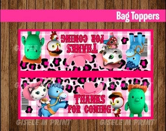 Sheriff Callie's Wild West Bags, Printable Sheriff Callie Bags toppers, Sheriff Callie party treat bags instant download