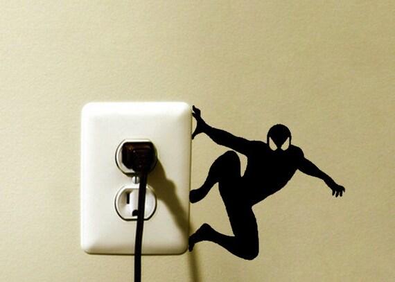 Spider Man Marvel Light Switch Vinyl Decal Sticker Spider Man