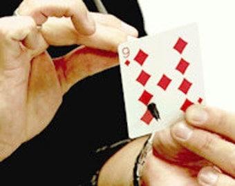 Pen through the note or card-magic tricks and magic