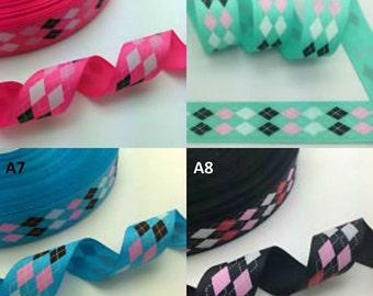 """1"""" Argyle Dog Collar"""