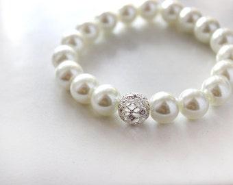 Bridal Pearl Stretchy Bracelet *SALE*