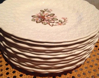 Set of 12 Provincial and Territorial Spode China Plates