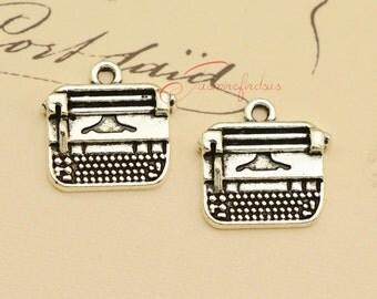 20PCS--18x18mm Typewriter Charms, Antique Tibetan Silver Typewriter charm pendant, DIY Findings, Jewelry Making