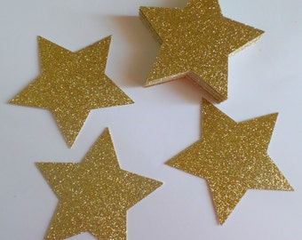 "3"" Inch Twinkle Twinke Little Star LARGE Confetti  (10 pieces) Die Cut - First Birthday, Shower Table Decorations"
