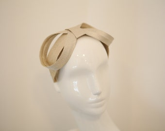 60s Chic Silver Lame Bow Hat