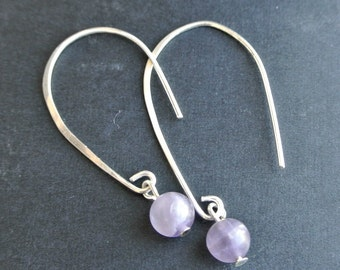 Sterling Silver with Amethyst 6mm bead