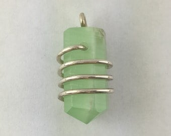 Green Calcite Pendant