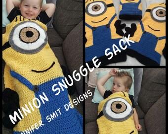 Minion Snugglesack Crochet Pattern