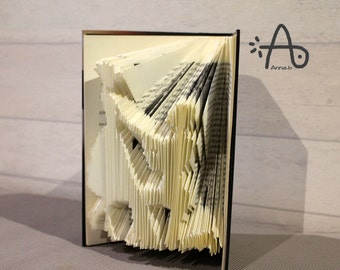 Sculpture hand crafted with book