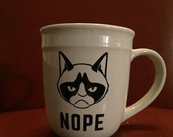 NOPE!  Grumpy cat coffee mug