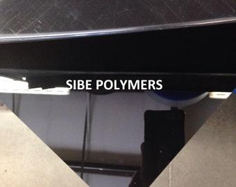 "SIBE-R PLASTIC SUPPLY - black acrylic plexiglass 3/8"" x 12"" x 12"" plastic sheet"