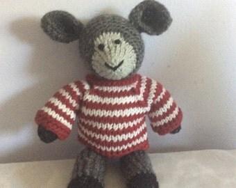 Hand knit Lamb
