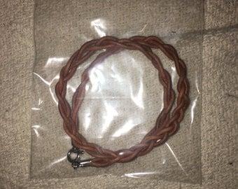 Light Brown Leather Choker