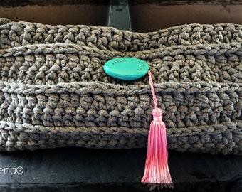 Crochet envelope bag
