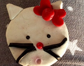 Polymer clay Hello Kitty magnet