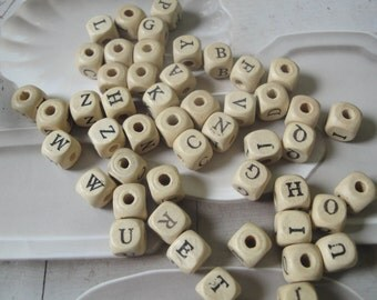 Alphabet Beads Destash