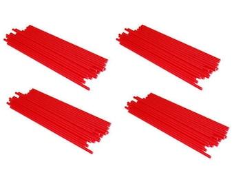 "RED - 3.5"" (89mm) Plastic Lollipop Sticks"