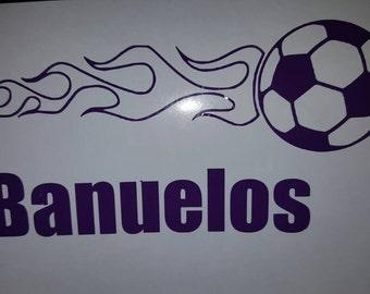 Soccer Decal, Soccer Sticker, Soccer ball Decal, Soccer Car Decal, Soccer Tumbler Decal, Soccer ball, Soccer Window Decal
