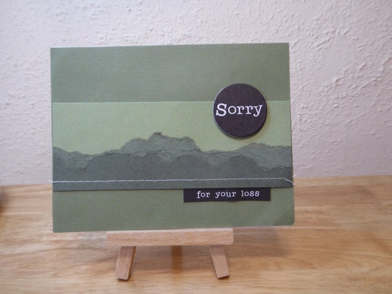 With Sympathy Handmade Card - luxury personalised unique quality special bespoke UK