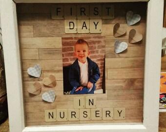 First Day in Nursery School Shadow Box Frame