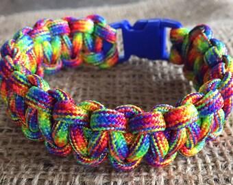 550 rainbow paracord bracelet