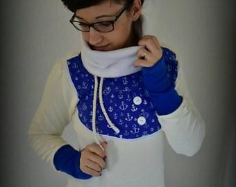 Sweater anchor blue maritim sailor anchor