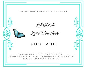 LilaKesh Love Voucher 100 (15% off) for only 85