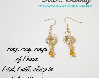 Silent Beauty Dangling Hoop Earrings