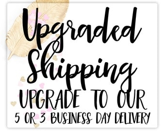Upgrade Shipping Options