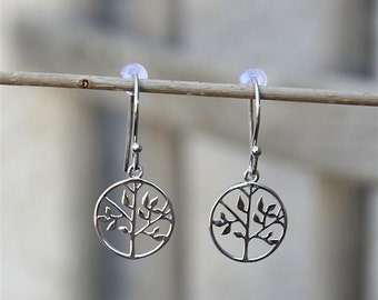 925 Silver earrings tree of life