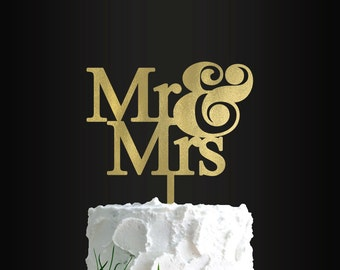 Wedding Cake Topper, Mr and Mrs, Custom Cake Topper, Custom Cake Decor