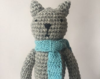 Amigurumi crochet cat toy