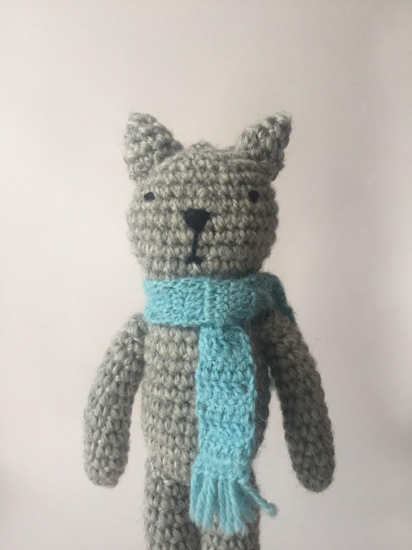 Amigurumi crochet cat toy