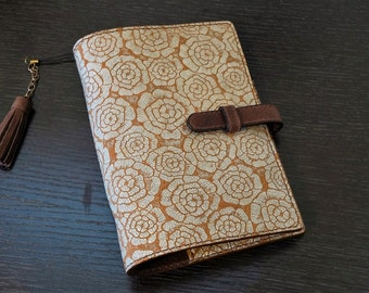 hand stitched leather,planner,notebook,hand dyed,rose planner,leather binder,leather planner