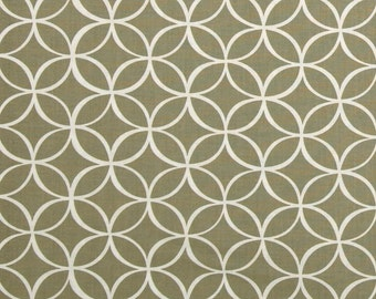 Taupe Fabric - Michael Miller Tile Pile Fabric - Taupe Geometric Fabric