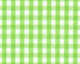 Lime Green Gingham 1/8""