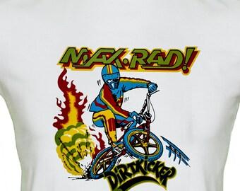 BMX Dirt Bike T Shirt Max Rad Original 1970's Transfer Rare Vintage Retro