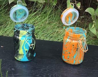 Medium sealed herb jars