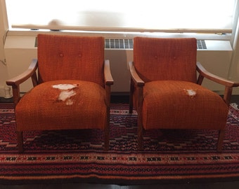 2 Mid Century Chairs circa 196t0s