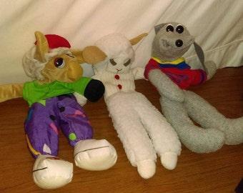 1993 LambChops Hand Puppets Set of 3 Sheri Lewis 18'' dolls