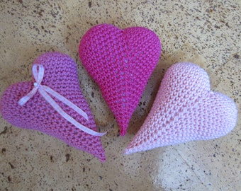 Crochet heart - manual