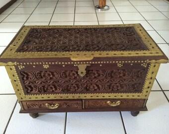 African wooden chests Kasha from Zanzibar.