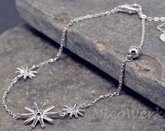 Bracelet silver bracelet Silver 925 ladies jewelry bracelet gift SAB112