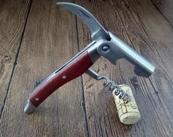 Bottle Opener, Personalized Bottle Opener, Groomsmen Gift, Wedding Gift, Engraved Corkscrew, Custom Bottle Opener, Custom Wine Opener