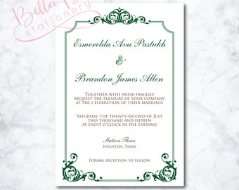 Esmerelda Wedding Invitation Design