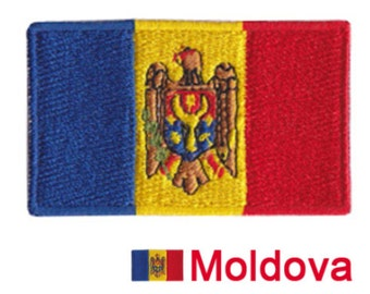 10 Moldova embroidery patches iron on Heat Seal Applique