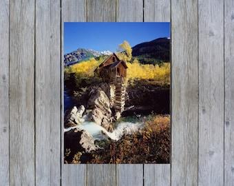 Crystal Mill Colorado USA mountain landscape poster print