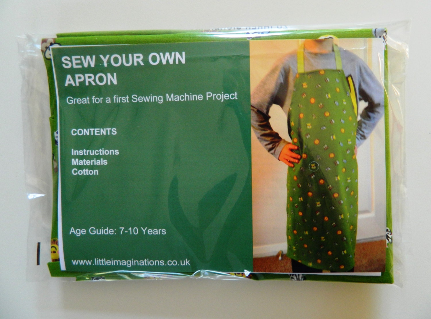 Sew Your Own Apron Kids First Sewing Machine Project Kit
