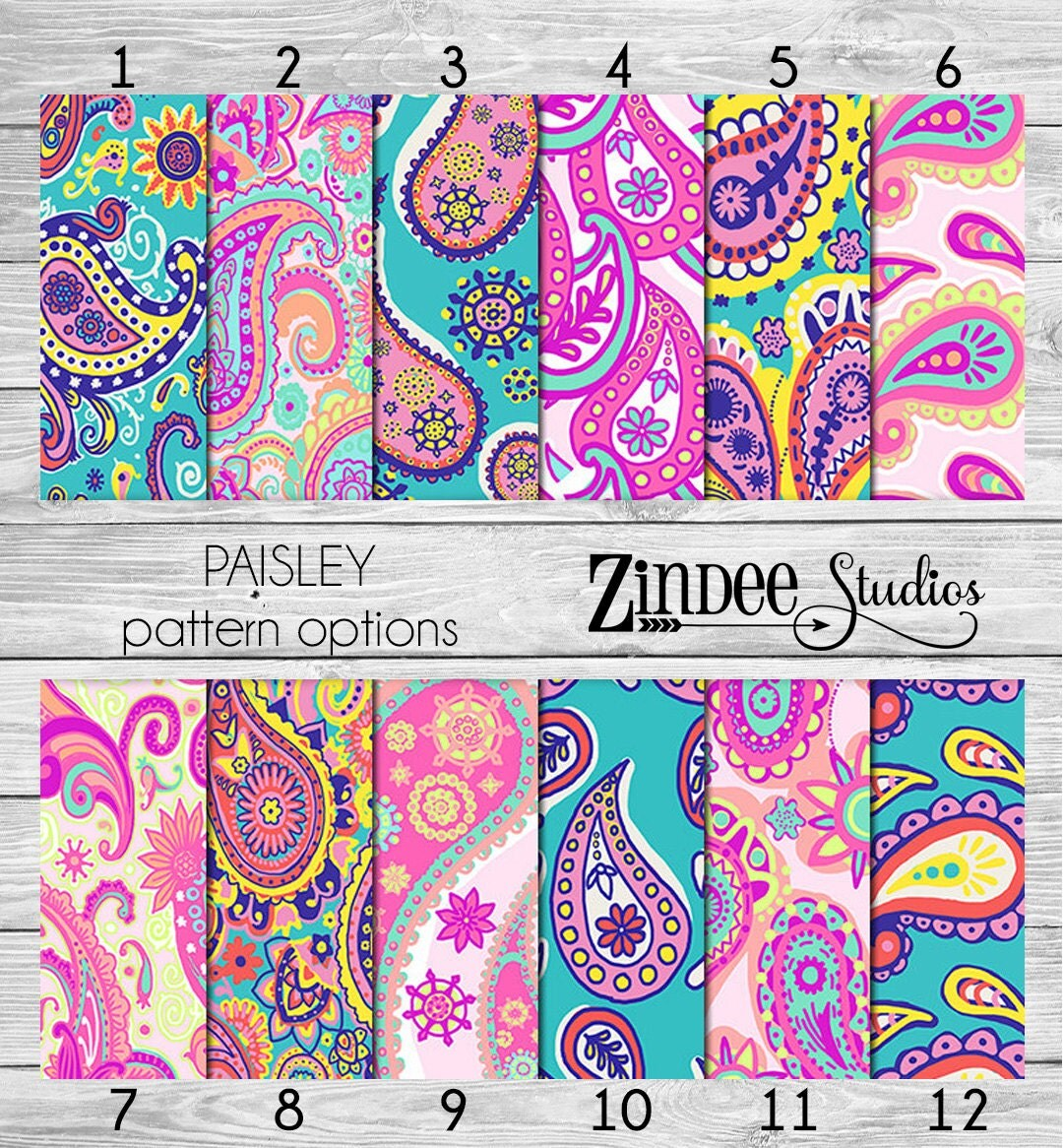 Paisley Pattern Vinyl Heat Transfer Or Adhesive From